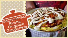 Videoricetta tipica giapponese molto famosa: OKONOMIYAKI, un piatto a base di cavolo, bacon, uova e pesce, racchiusa da una morbida pastella.