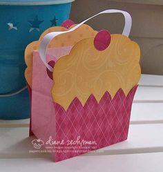Mini cupcake bag and card printables