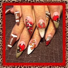 49ers - Nail Art Gallery