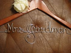 7 DOLLARS OFF Personalized wedding dress hanger by HighendHangers, $19.99