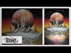 Red Planet Rising - Spray Paint Art - by Trasher - YouTube
