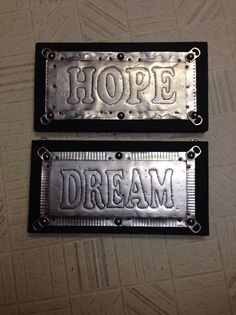Make the signs each a little different and add interest. How to Make Hole Punch Signs With Pepsi Tins by Violet Yestrau-Kolt. Soda Can Crafts Aluminum Can Crafts, Metal Crafts, Crafts With Tin Cans, Pop Can Crafts, Crafts To Make, Pop Can Art, Recycle Cans, Reuse, Tin Art