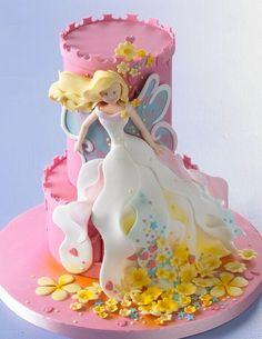 Stunning little girls cake, and much easier then making a whole body and letting dry and worrying if it will crack lol