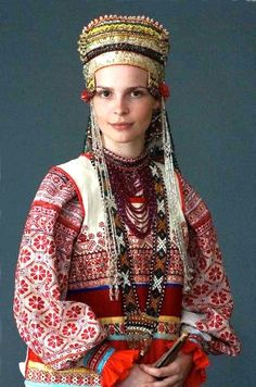 Russian folk costume; no creds found