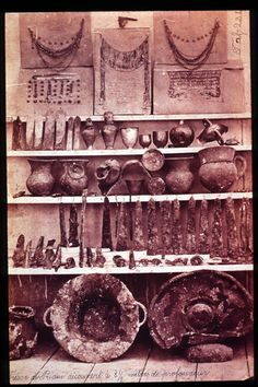 The Gold Of Troy - Gold, electrum, silver and bronze artifacts discovered by classical archaeologist Heinrich Schliemann. Schliemann claimed the site to be that of ancient Troy, and assigned the artifacts to the Homeric King Priam.