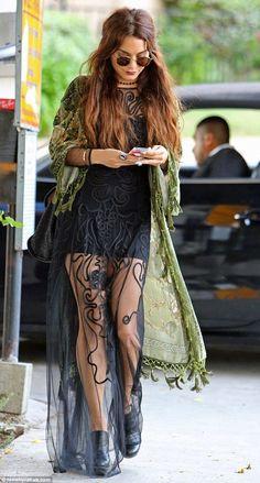 Vanessa Hudgens gives her boho style look