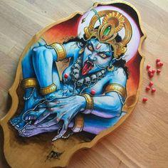 Kali goin to town on her self! Cinnamon hearts hiding the bits! Kali Tattoo, Shiva Tattoo Design, Hindu Tattoos, God Tattoos, Mother Kali, Lotus Tattoo, Tattoo Ink, Sleeve Tattoos, Tattoo Master