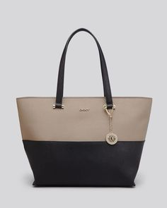 ab95c5203e DKNY Tote - Colorblock Bryant Park Saffiano Shopper With Pocket Handbags -  Totes - Bloomingdale s