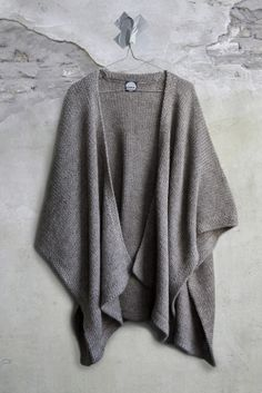 lovely knit poncho sweater - great to warm up in the office or to wear during chilly fall days