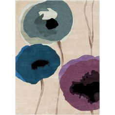 Sanderson Olive Gray and Prune Purple Rectangular: 2 Ft. x 3 Ft. Rug - (In Rectangular)