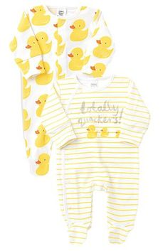 Buy Two Pack White Ducks Sleepsuits (0-2yrs) from the Next UK online shop