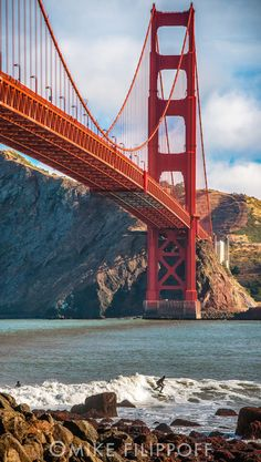 The Golden Gate Bridge, San Francisco, California: Every bit as awesome as I expected. I just wish we had known about Muir Woods just a short ways past the far end, where we turned around and headed to Bubba Gump's Shrimp Co. for lunch on Pier 39. We were enroute to Yosemite in 2013.
