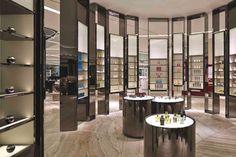 Fantastic metal display shelves! #interiordesign #retaildesign #modern