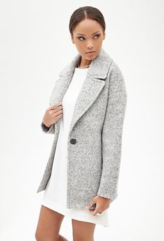 FOREVER 21 Wool-Blend Boucle Coat