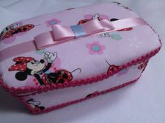Minnie Mouse Nursery wipe case by IsabellaBowtique on Etsy, $18.00
