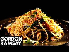 Spaghetti with Chilli, Sardines & Oregano - Gordon Ramsay Here is a way to spice up a typical pasta dish. Gordon prepares toasted breadcrumbs, finely diced chilli, oregano and garlic, and combines it perfectly with tinned sardines to make a super healthy meal packed with protein. #picsandpalettes #spaghetti #GordonRamsay