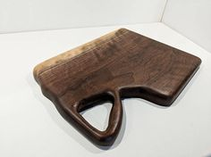 Kitchen decor walnut wood cutting board or cheese board. Perfect for serving and chopping by Grain Momentum Woodworking.