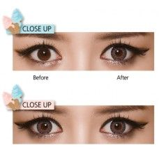 Get stunning looks with these dramatic yet naturally enlarging Geo Cream rayray grey circle lenses. The limbal ring appears to blend quite well on dark eyes; hence make them favorite among Asians.