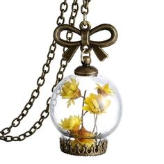 Limited Quantities Available: Dried Flower Memo...  Buy Now!: http://www.synonyco.com/products/dried-flower-memory-necklace?utm_campaign=social_autopilot&utm_source=pin&utm_medium=pin