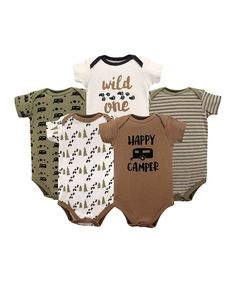 Take a look at this Happy Camper Brown 'Happy Camper' Bodysuit Set today!