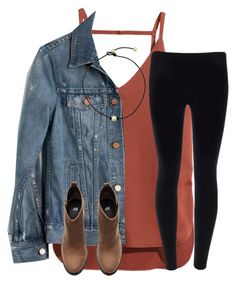 """Jean Jacket contest"" by ponyboysgirlfriend ❤ liked on Polyvore featuring H&M and Madewell"