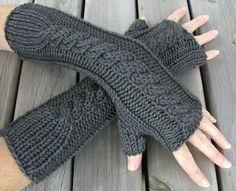 Hand Knitted Things: PDF Pattern Fingerless Gloves