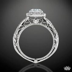 Verragio 4 Prong Cushion Halo Diamond Engagement Ring