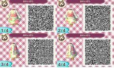 Rose kimono: ACNL QR clothes