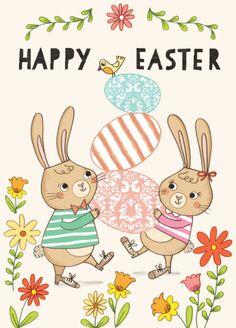 Kasia Dudziuk - Easter-Bunnies-with-flowers.jpg