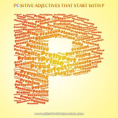 50 Best Positive adjectives / Positive descriptive words images