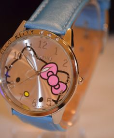 Hello Kitty watch, Large Face Quartz, Blue Brand New in Bag. free fast ship USA