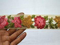 Gold Fancy Sequin Lace Trim Bridal Wedding Ribbon Craft Sari Border 3cm x 1Yard