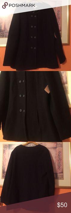 Long jewelneck knit jacket Nice elegant warm jacket Coldwater Creek Jackets & Coats