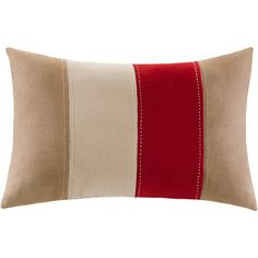 Mainstays Boulder Stripe Oblong Pillow, Red/Brown (Throw pillow for the couch.)