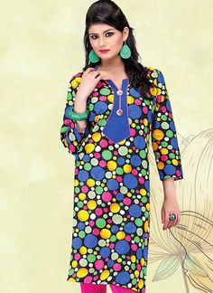 Multi-Color Printed Cotton Kurti