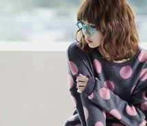 polka dots, sweater.