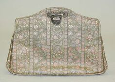 Evening bag    Date:      1928  Culture:      French  Medium:      metallic, silk