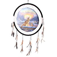 Wolves and Dream Catchers | Howling Wolf & Cub Dream Catcher - 61cm - In My Mind's Eye: New Age ...