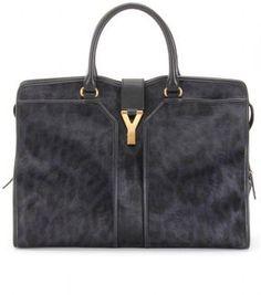 Saint Laurent LARGE CABAS CHYC PRINTED HAIRCALF BAG on shopstyle.com