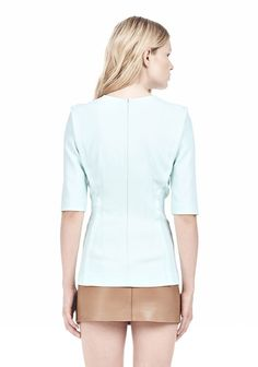 EXPOSED DART SHORT SLEEVE TOP - Blouses Women - Alexander Wang Online Store