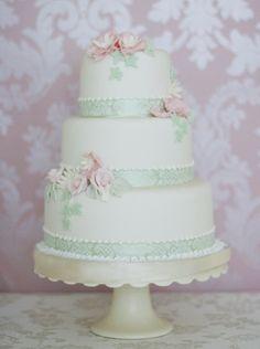 """Sophia Spring Wedding Cake"" by The Liggy's Cake Company"
