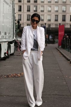 Baller! I love this sexy/comfy/chic white suit.