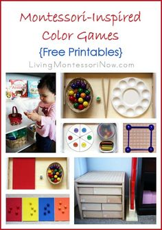 Montessori Monday - Montessori-Inspired Color Games {Free Printables}