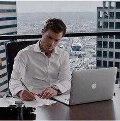 Fifty shades of grey / working ceo / Christian Grey / Jamie Dornan / Mr.Grey…