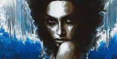 "Non Nude OIL & ACRYLIC CANVAS Painting ORIGINAL Portrait By L Dolan 23x44"" Brizo"
