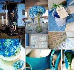 blue green wedding | Inspiration Boards, Weddings, Blue with Green Envy | WeddingWire: The ...