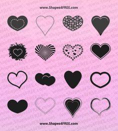 Free Photoshop Heart Shapes