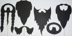 DIY 6 Piece Beard Kit Photo Booth Props by itrhymeswithorange, $10.00