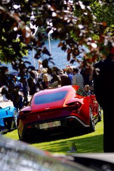 Aston Martin and Italian design-house Zagato unveil Vanquish Zagato Concept at Villa d'Este, the latest creation from their long-standing partnership. Discover: www. Aston Martin Vulcan, Aston Martin Db11, Aston Martin Vanquish, Super Sport Cars, Super Cars, James Bond Cars, Car Photography, Fast Cars, Cars