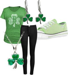 """""""St. Patrick's Day Outfit"""" by sydney-r-hunt on Polyvore"""